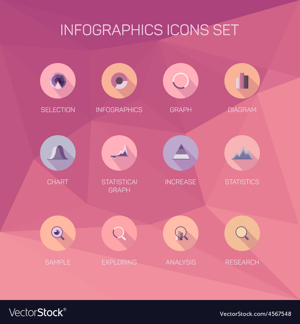 Set infographics background