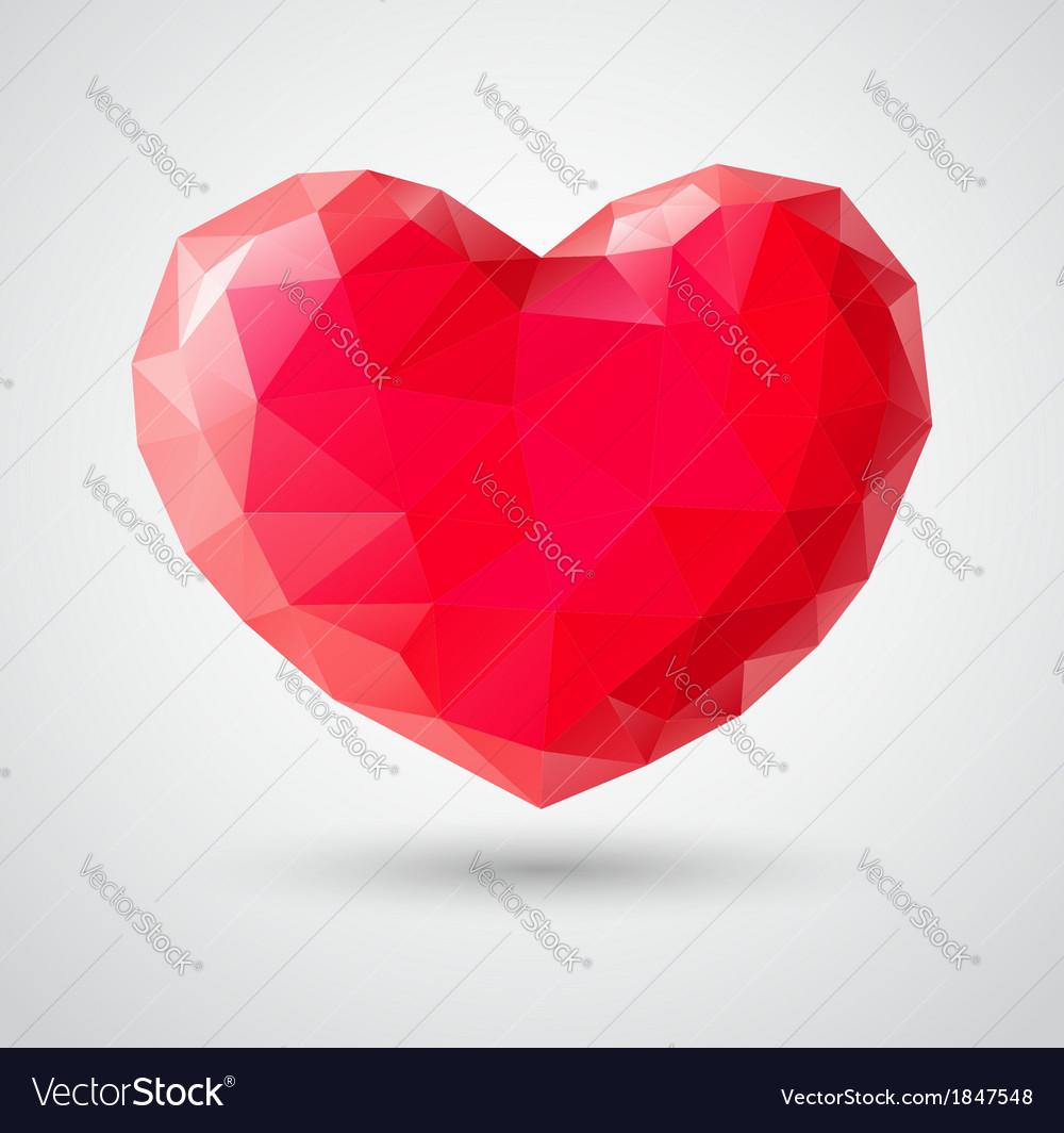 Shiny heart gem symbol
