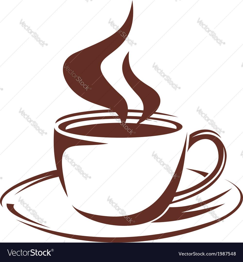 steaming cup of full roast coffee royalty free vector image rh vectorstock com coffee vector coffee victoria sponge recipe