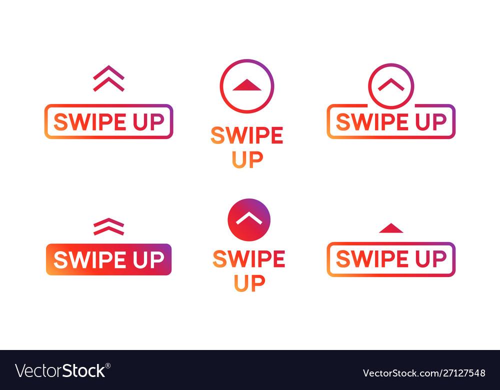 Swipe Up Insta Story Icon Scroll Arrow Drag Vector Image