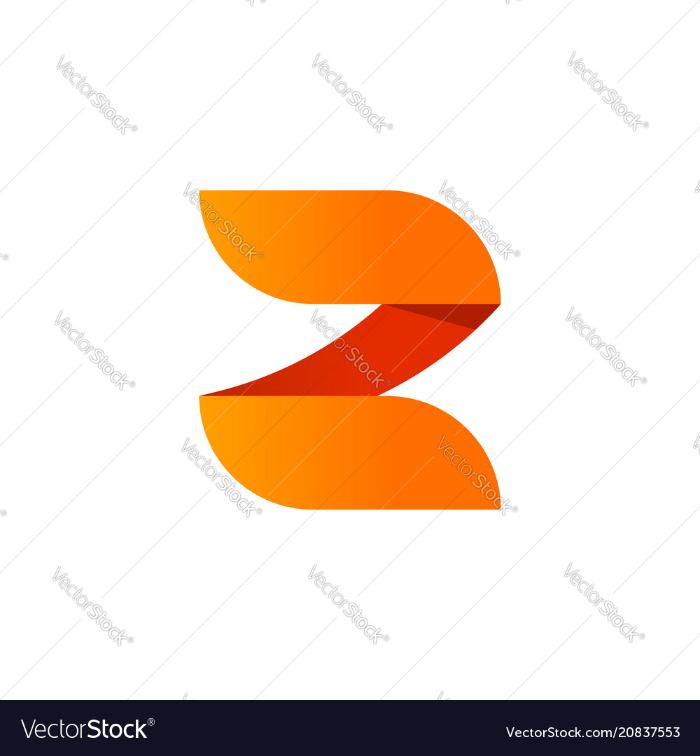 Abstract letter z logo element design vector image