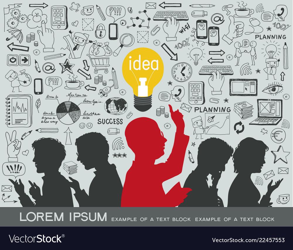 Business idea infographics