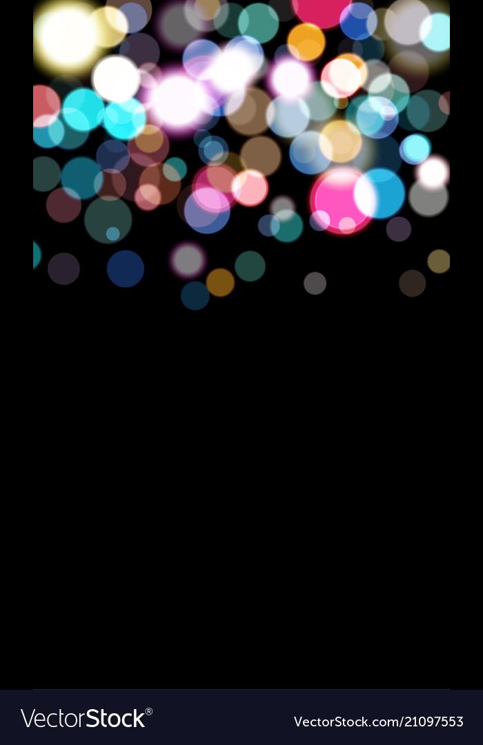 Coloftull balls bokeh errect blured circles