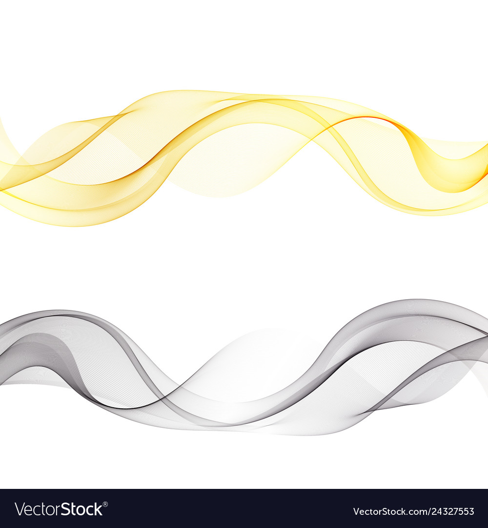 Colored waves set abstract background of smoke