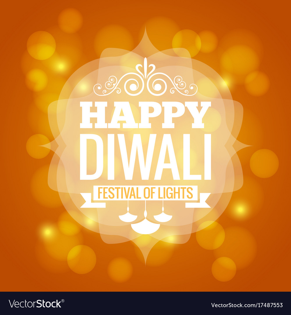 Diwali lights logo design background