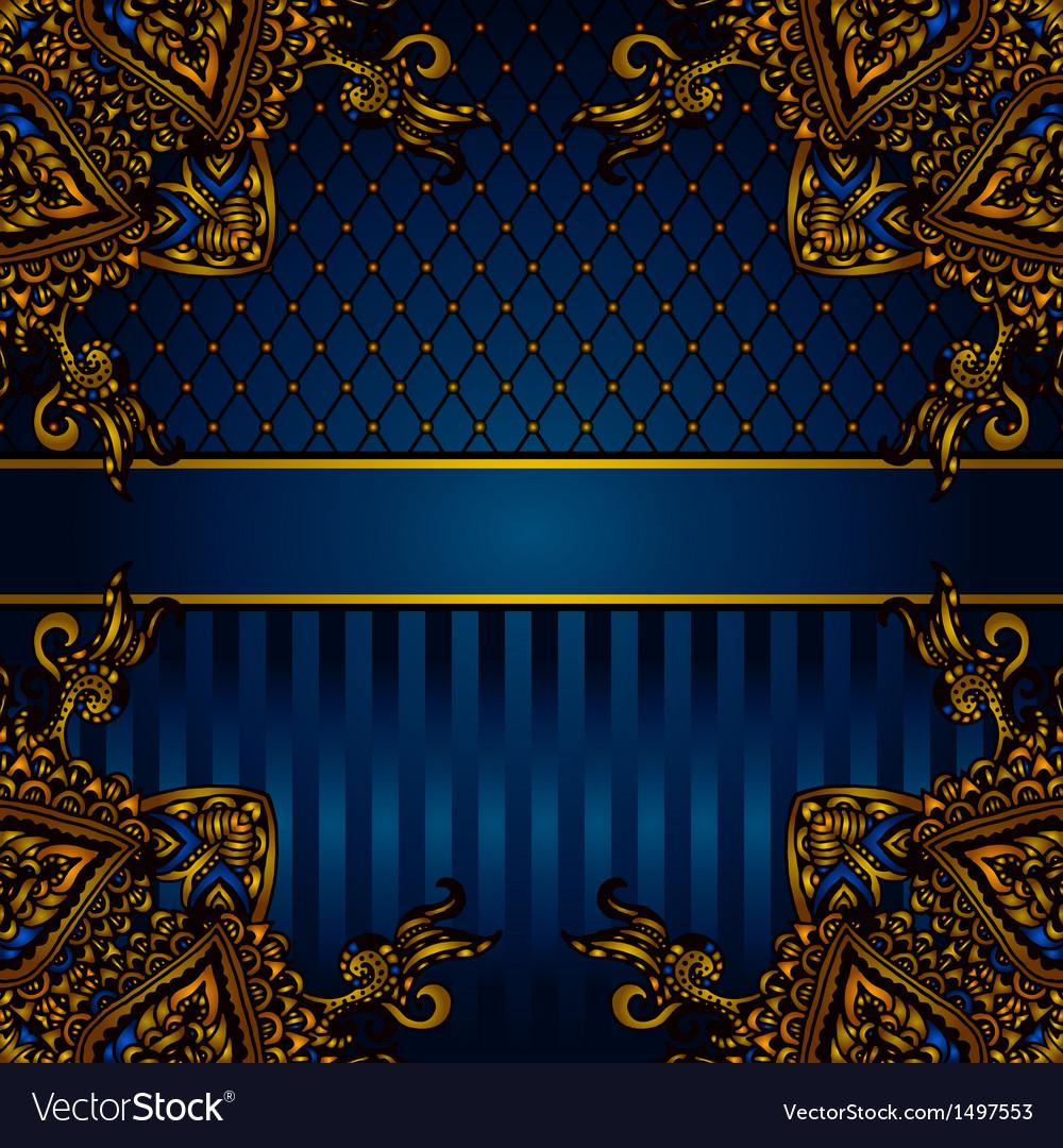 Luxury banner border vector image