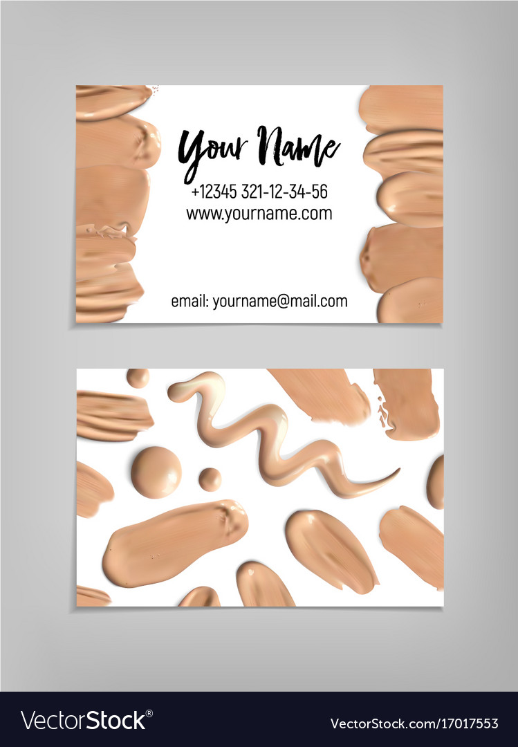 makeup artist business card template vector image