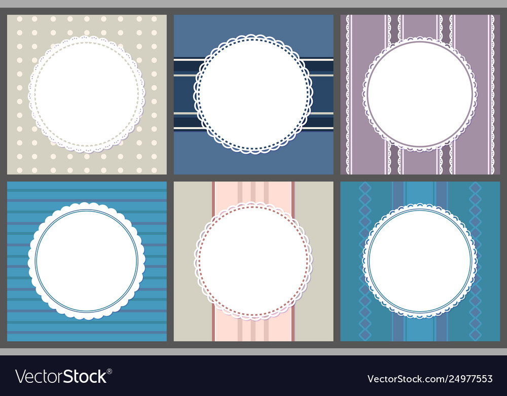 Round spare frames on strips circle border