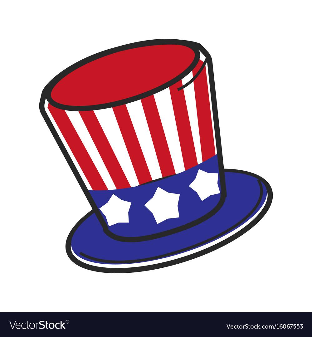 Uncle Sam Usa America Hat Symbol Travel Royalty Free Vector