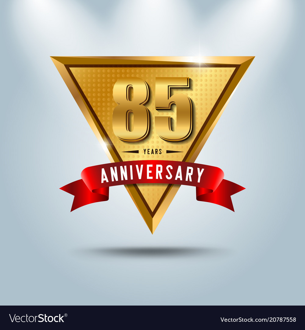 85 years anniversary celebration logotype