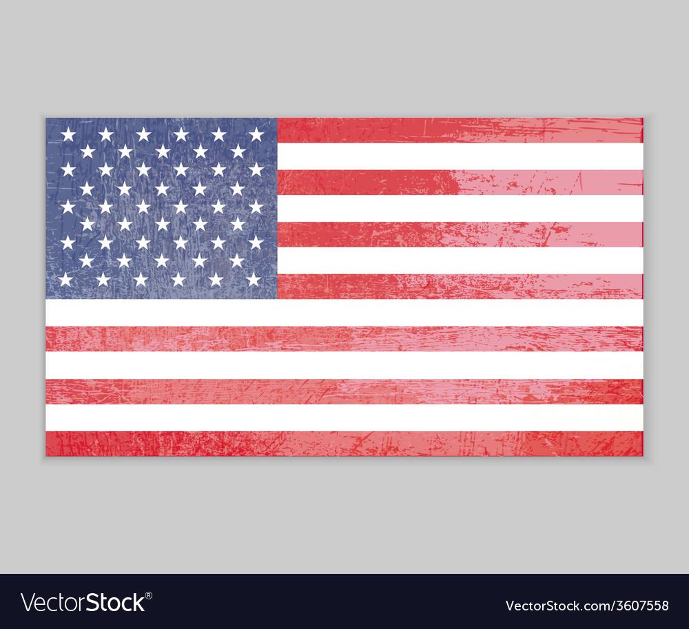 America flag grunge background