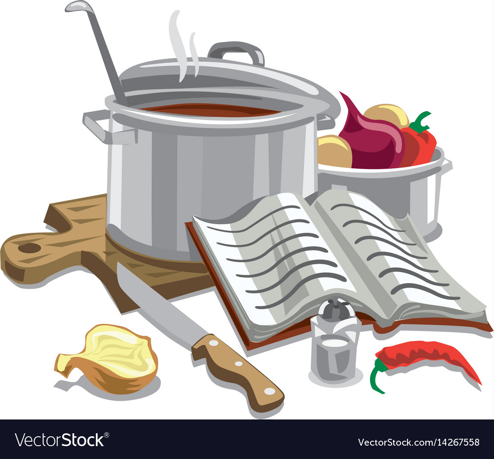 Cooking soup vector image
