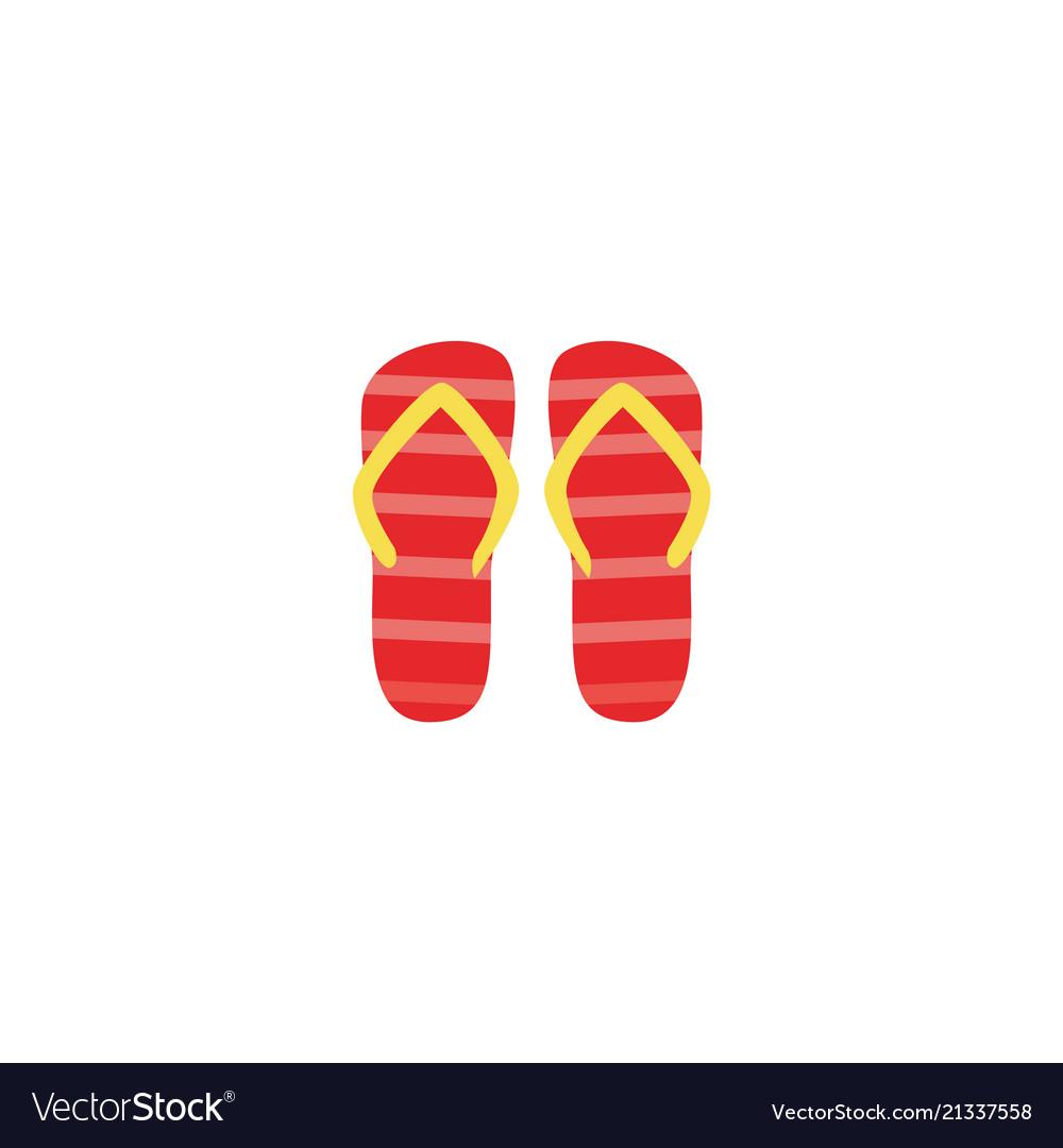 334b4e8b1cf37 Flat beach slippers flip flops icon Royalty Free Vector