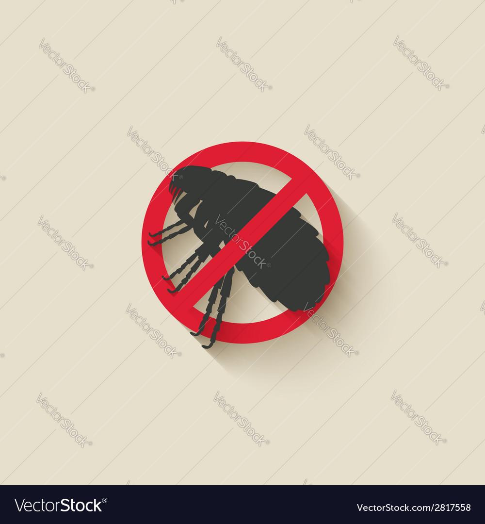 Flea warning sign vector image