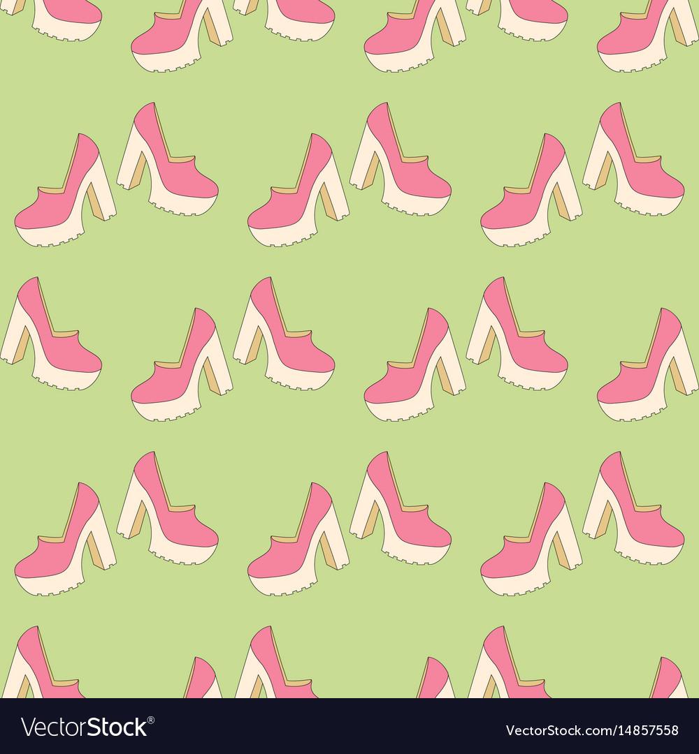 High heels seamless pattern