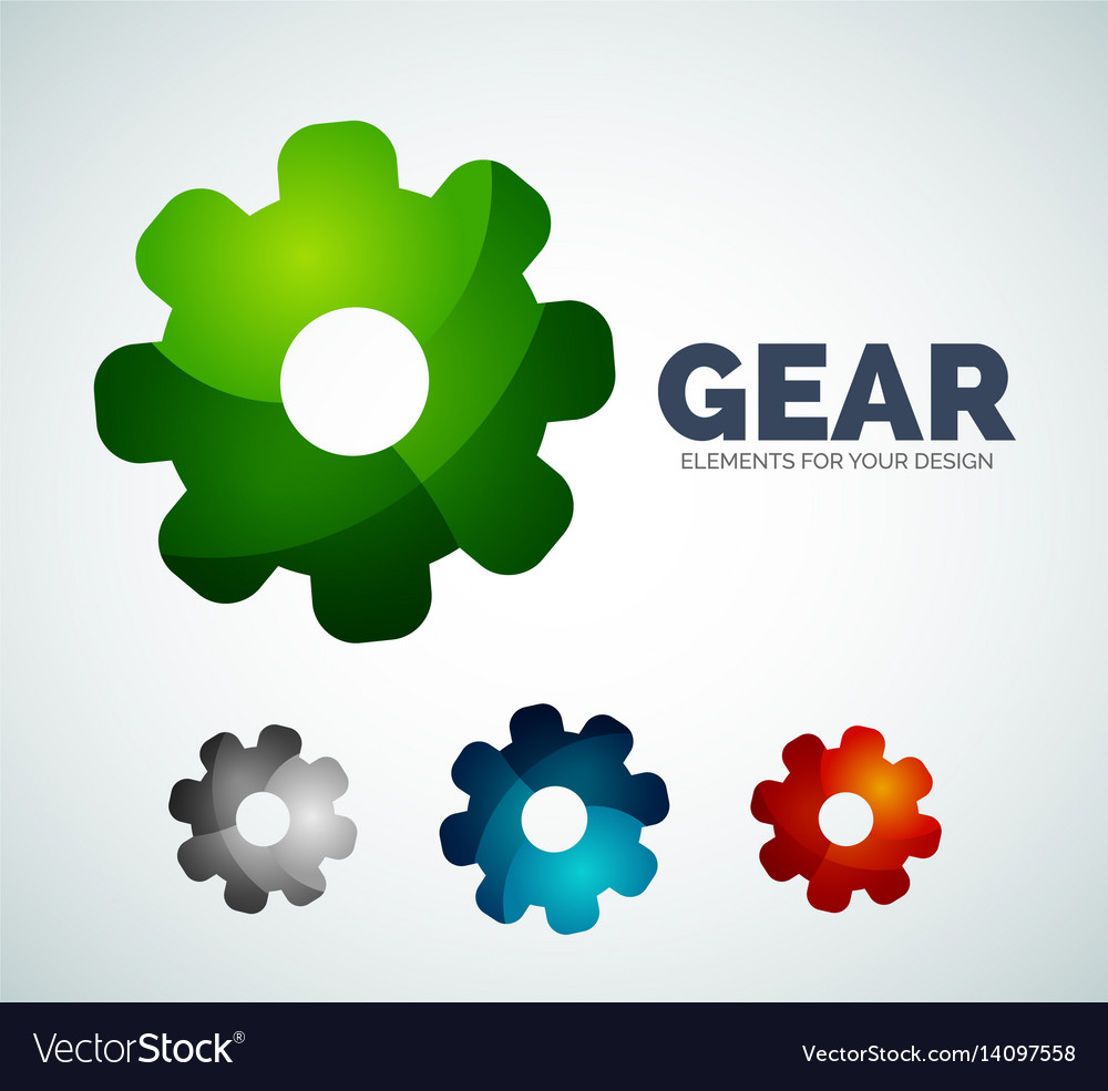 Industrial gear abstract icons