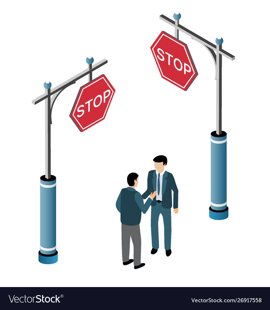 The isometric traffic signs