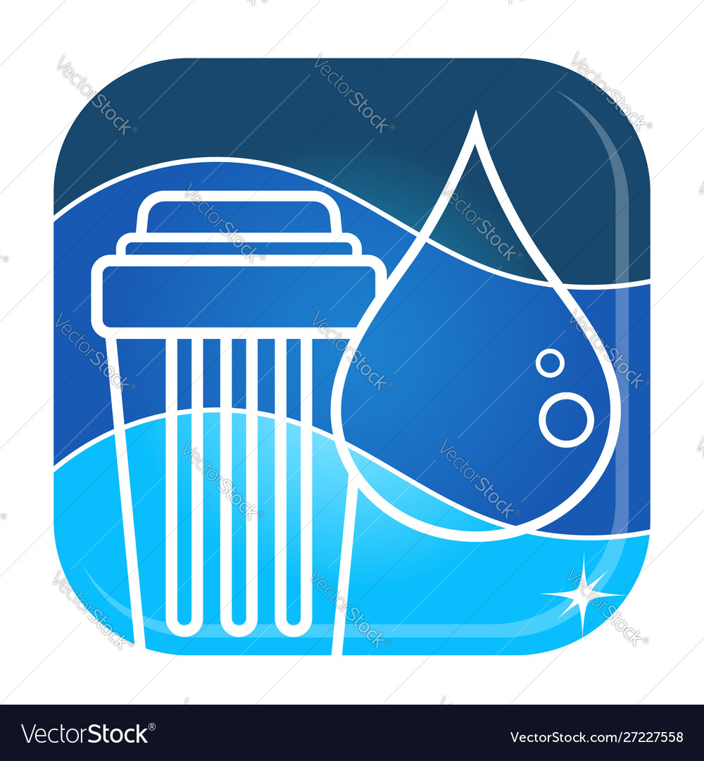 Water purification and filtration symbol