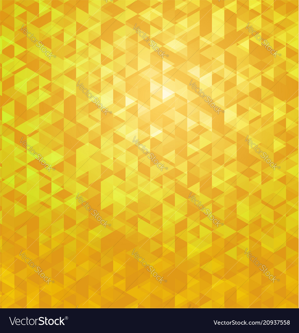 Yellow geometric polygonal abstract background