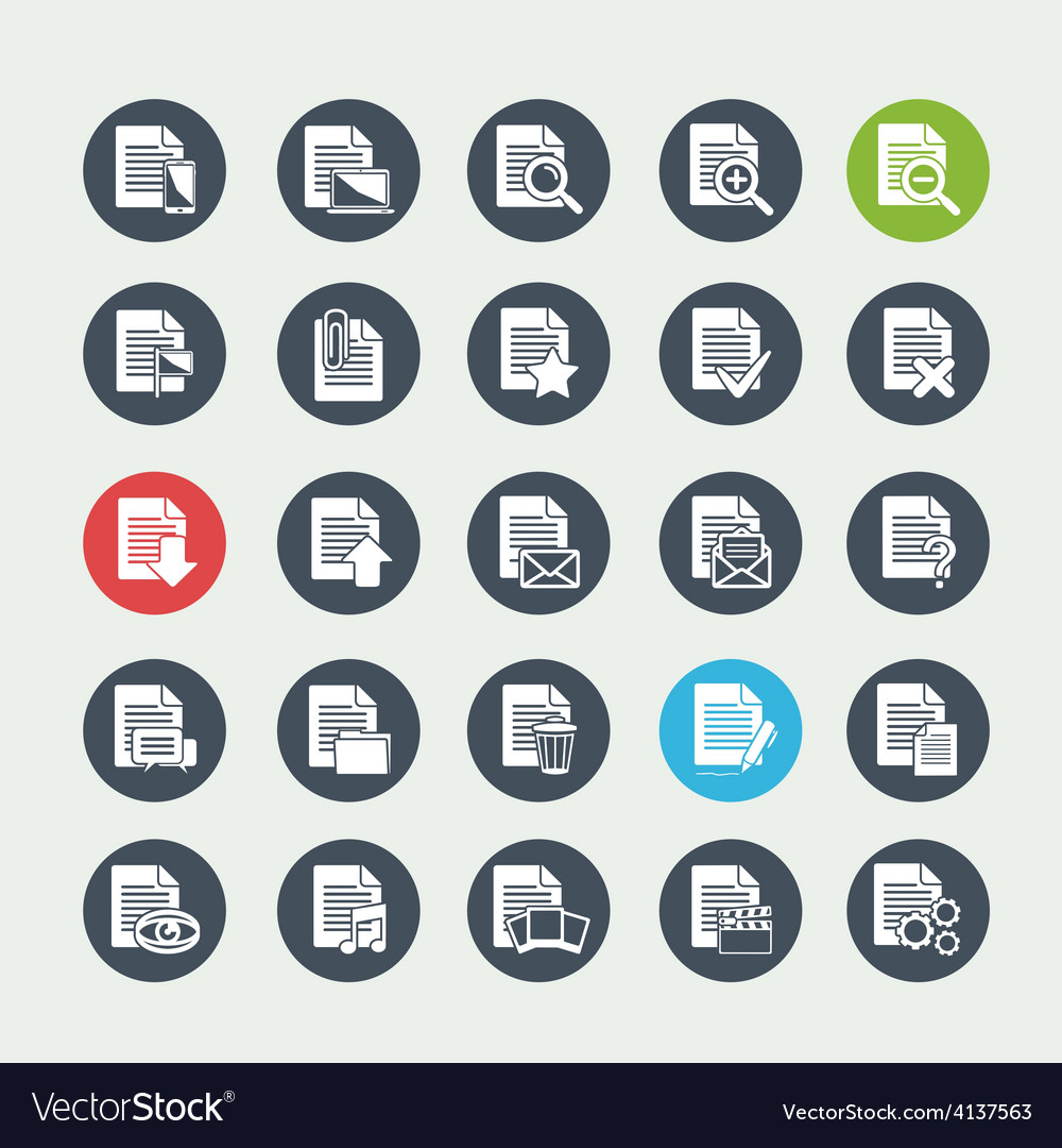 Document File icons vector image