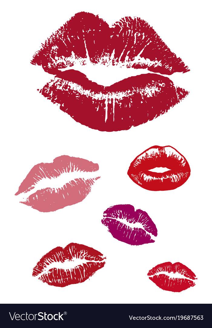Group of kiss lips lover sticks vector image