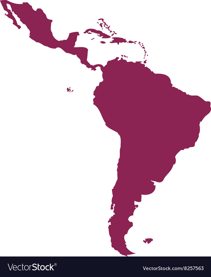 Latin-America-Map-380x400 vector image