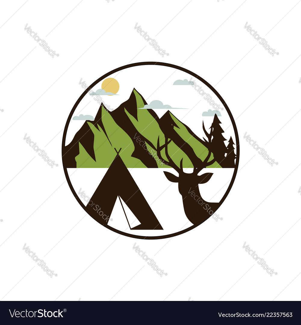 Mountain explorer adventure badge logo