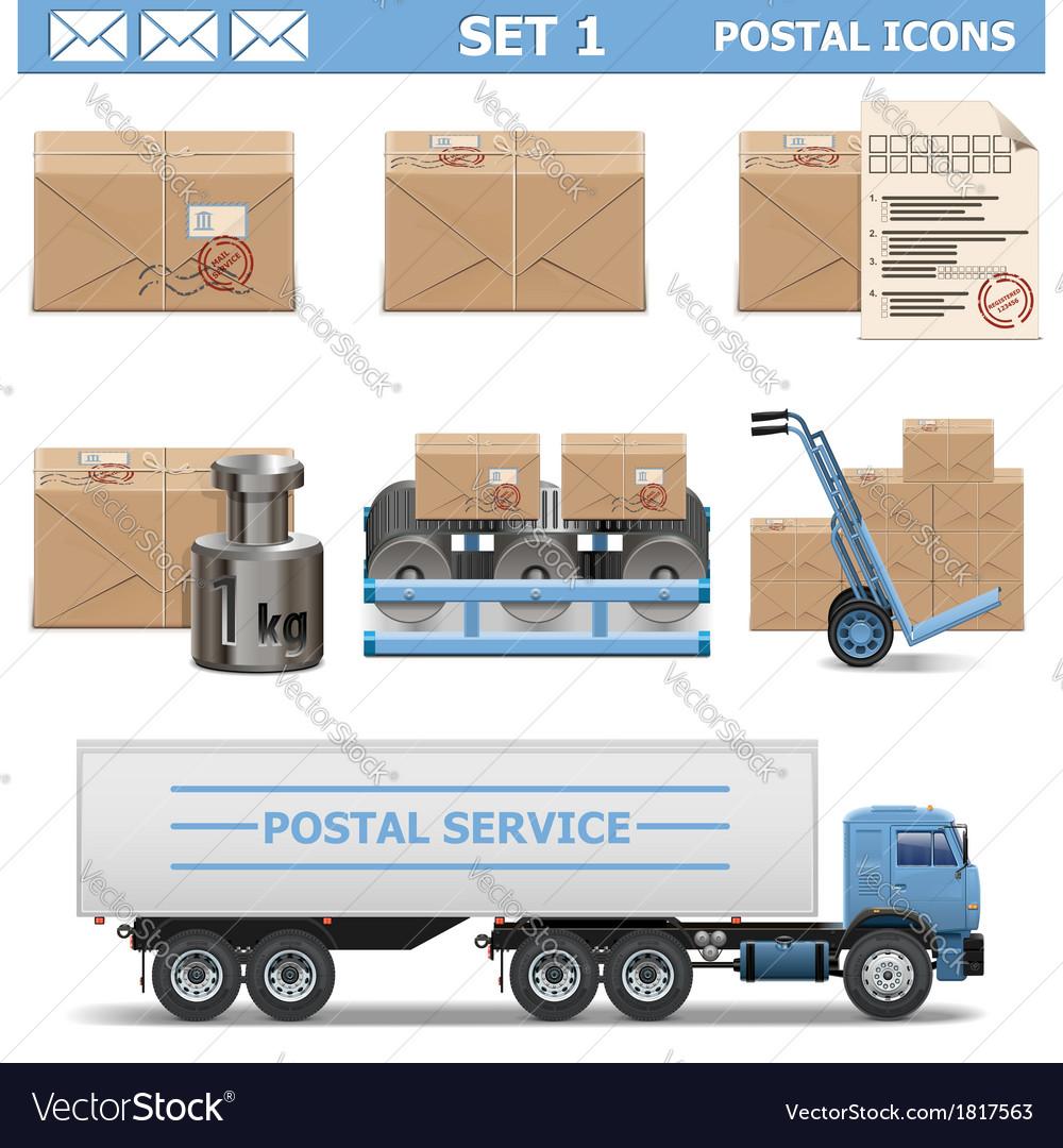 Postal Icons Set 1