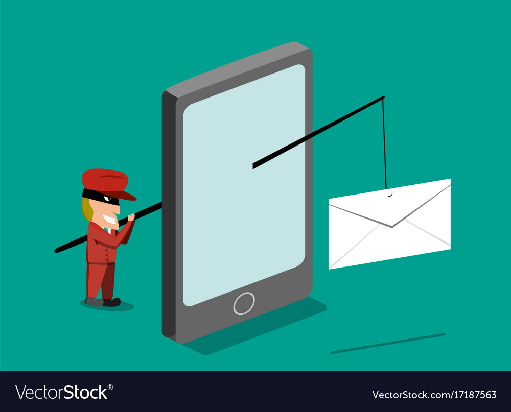 Scammer send phishing mail mobile phone