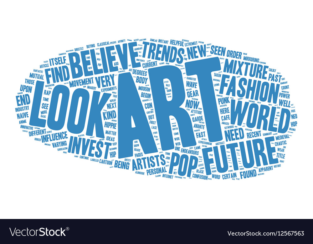 The Future Of Art Investment Ideas text background vector image