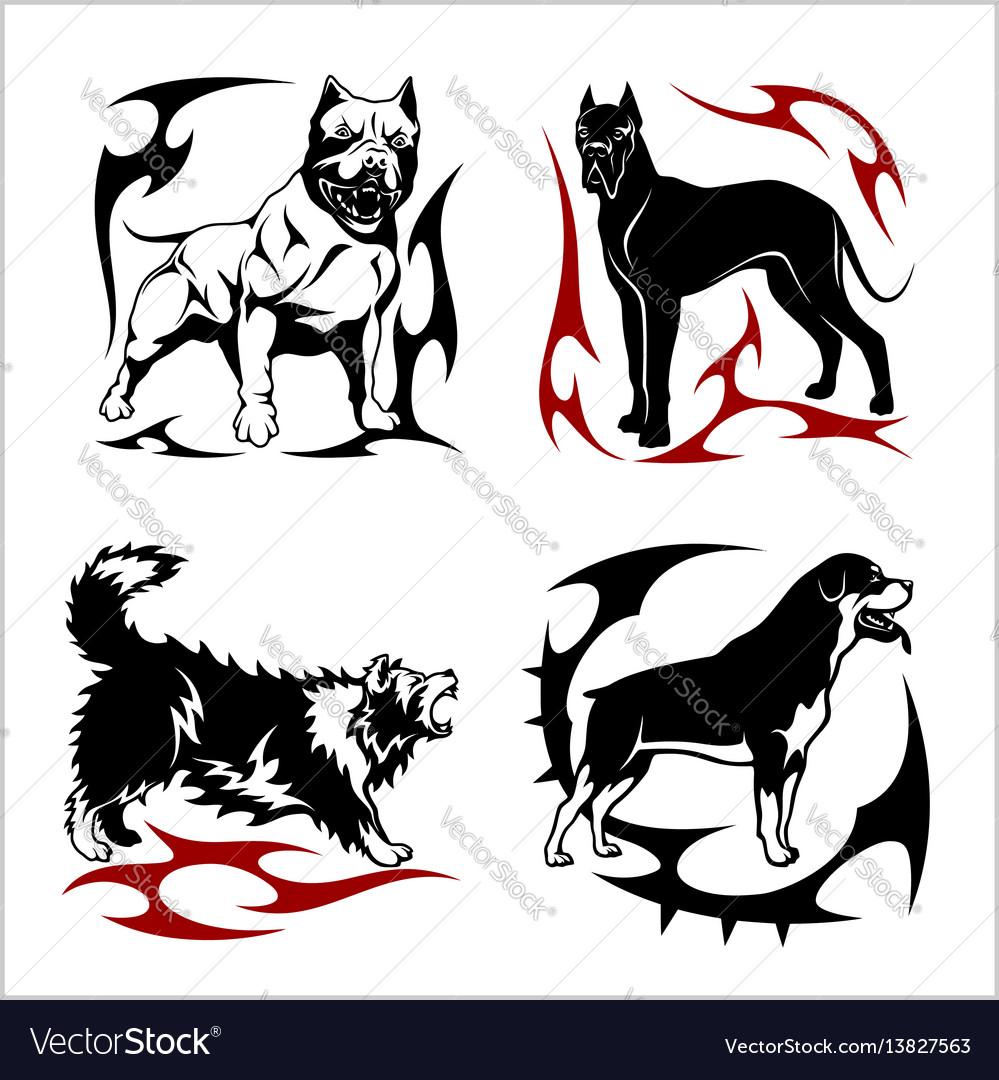 Tribal dog design