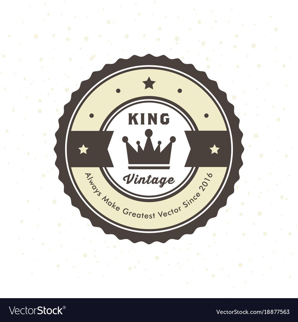 Vintage Hipster Logo Design Template Royalty Free Vector