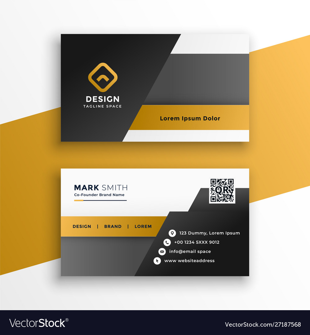 Abstract geometric style business card design