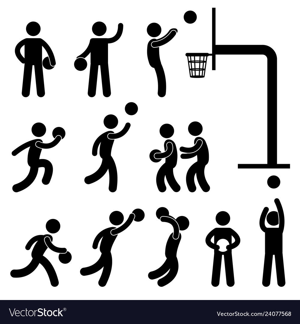 Basketball player icon sign symbol pictogram a