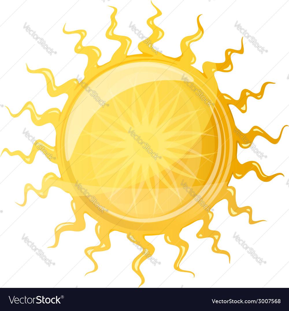 Big Sun with Wavy Rays