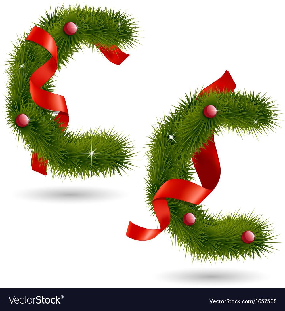 Christmas Alphabet.Christmas Alphabet C
