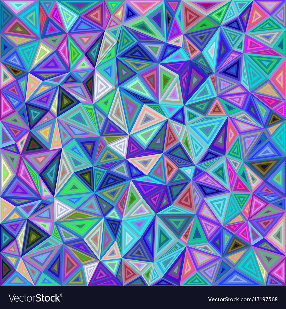 Colorful chaotic triangle mosaic tile background Vector Image