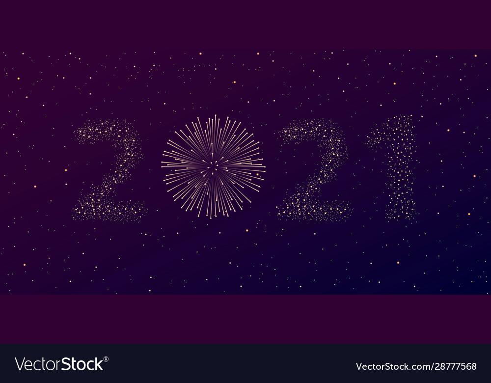 Firework 2021 new year concept