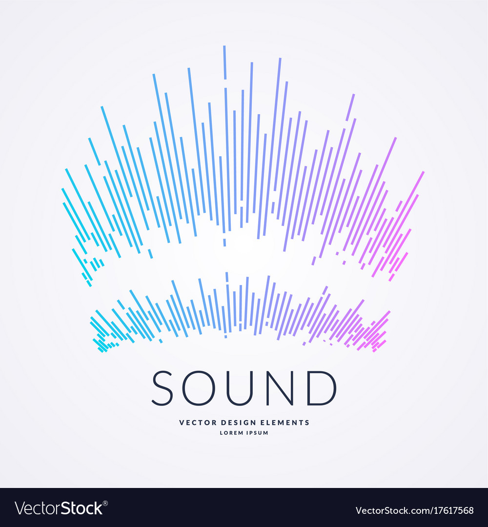 Music wave in the form of vector image