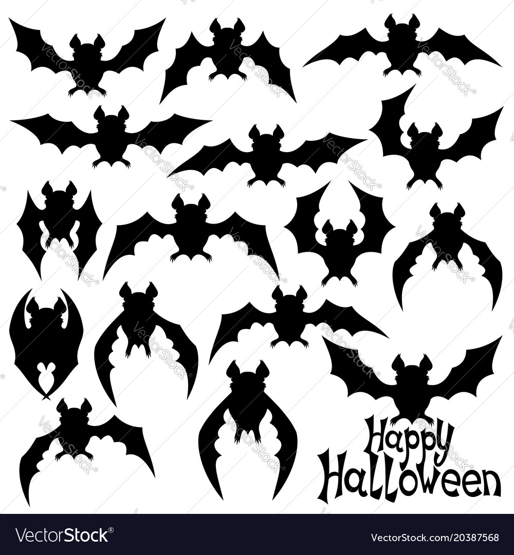 Set of black bats