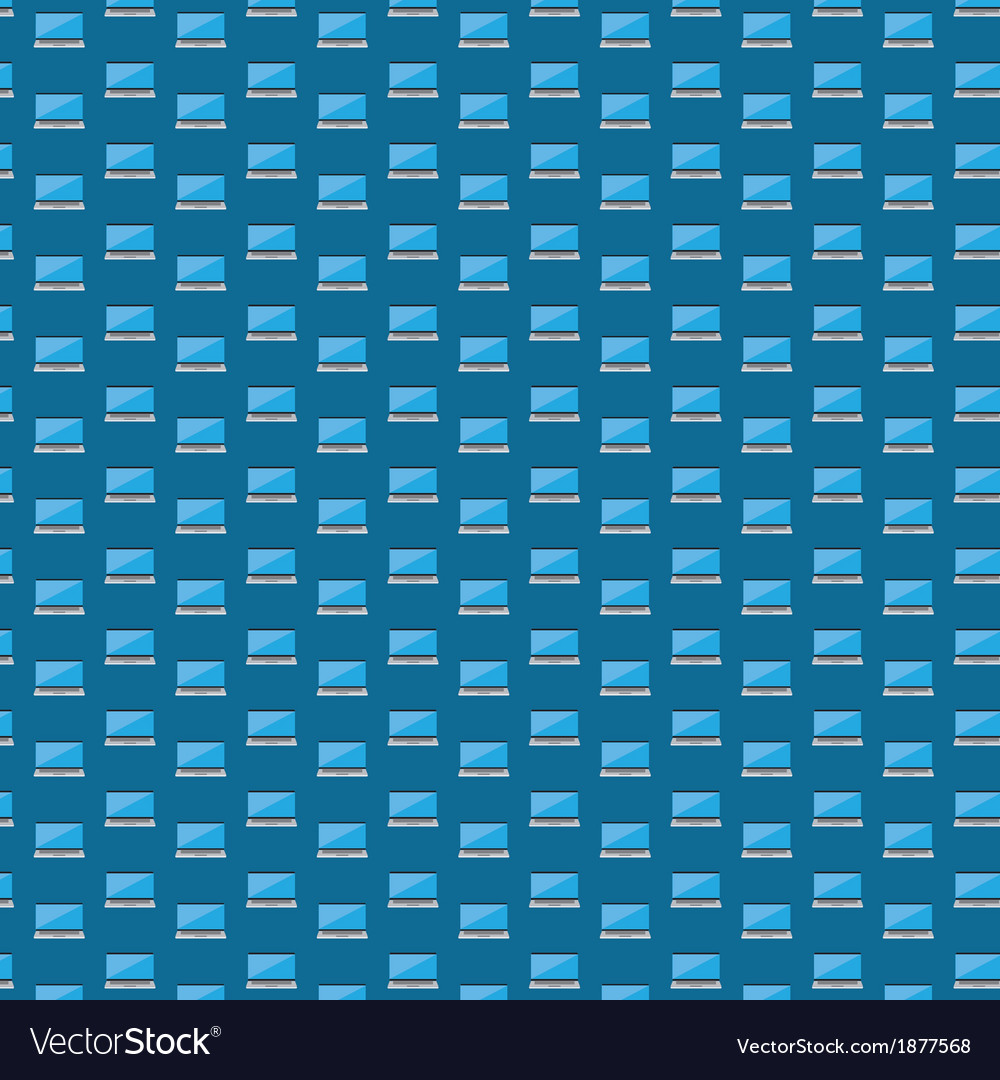 Smart laptop icon pattern
