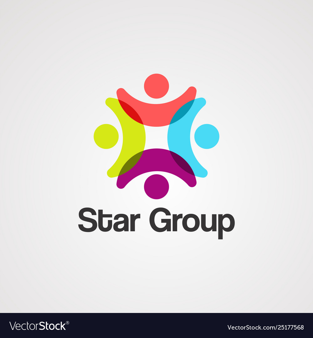 Star group logo iconelement and template