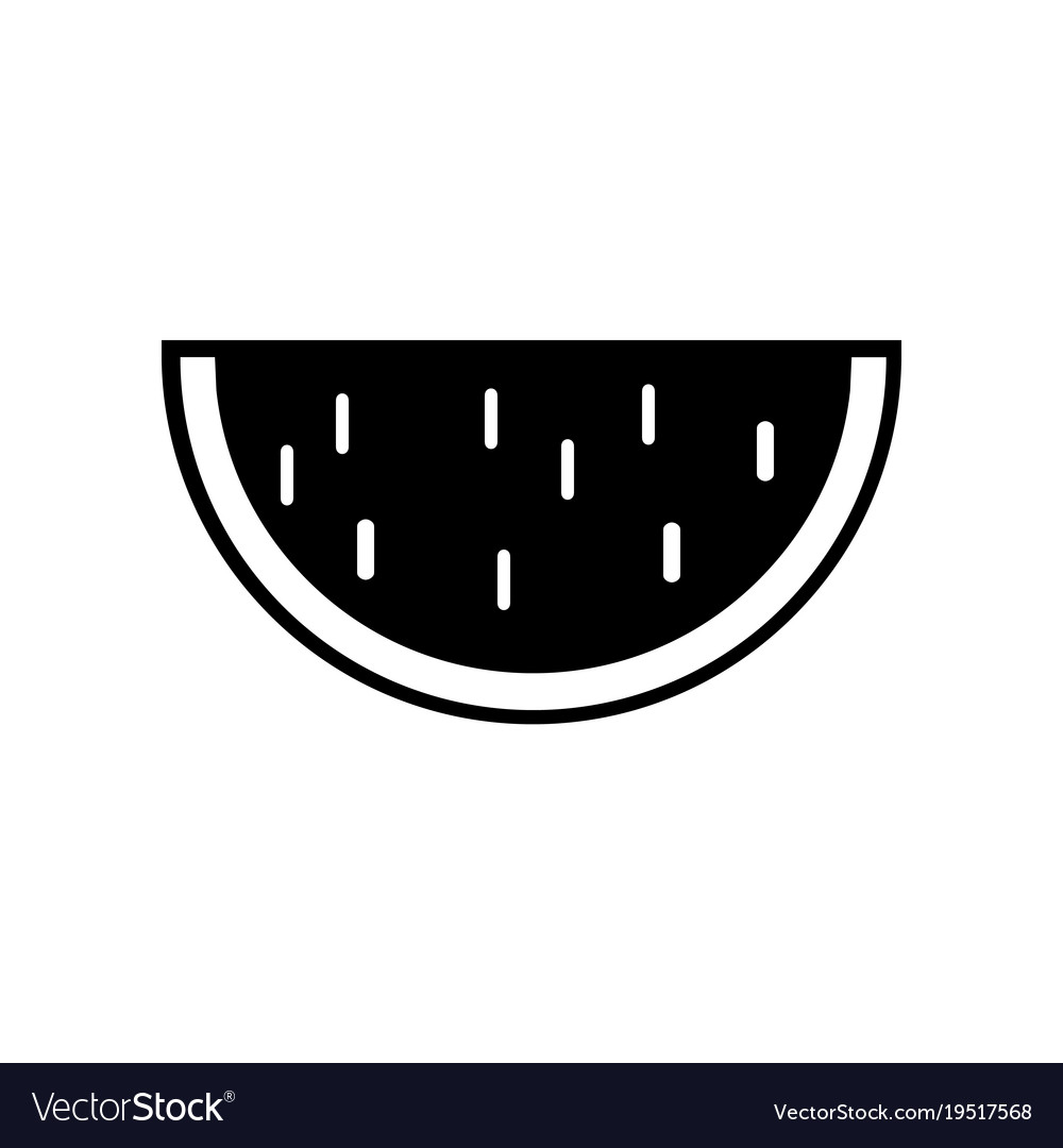 Water melon icon in trendy flat style isolated on