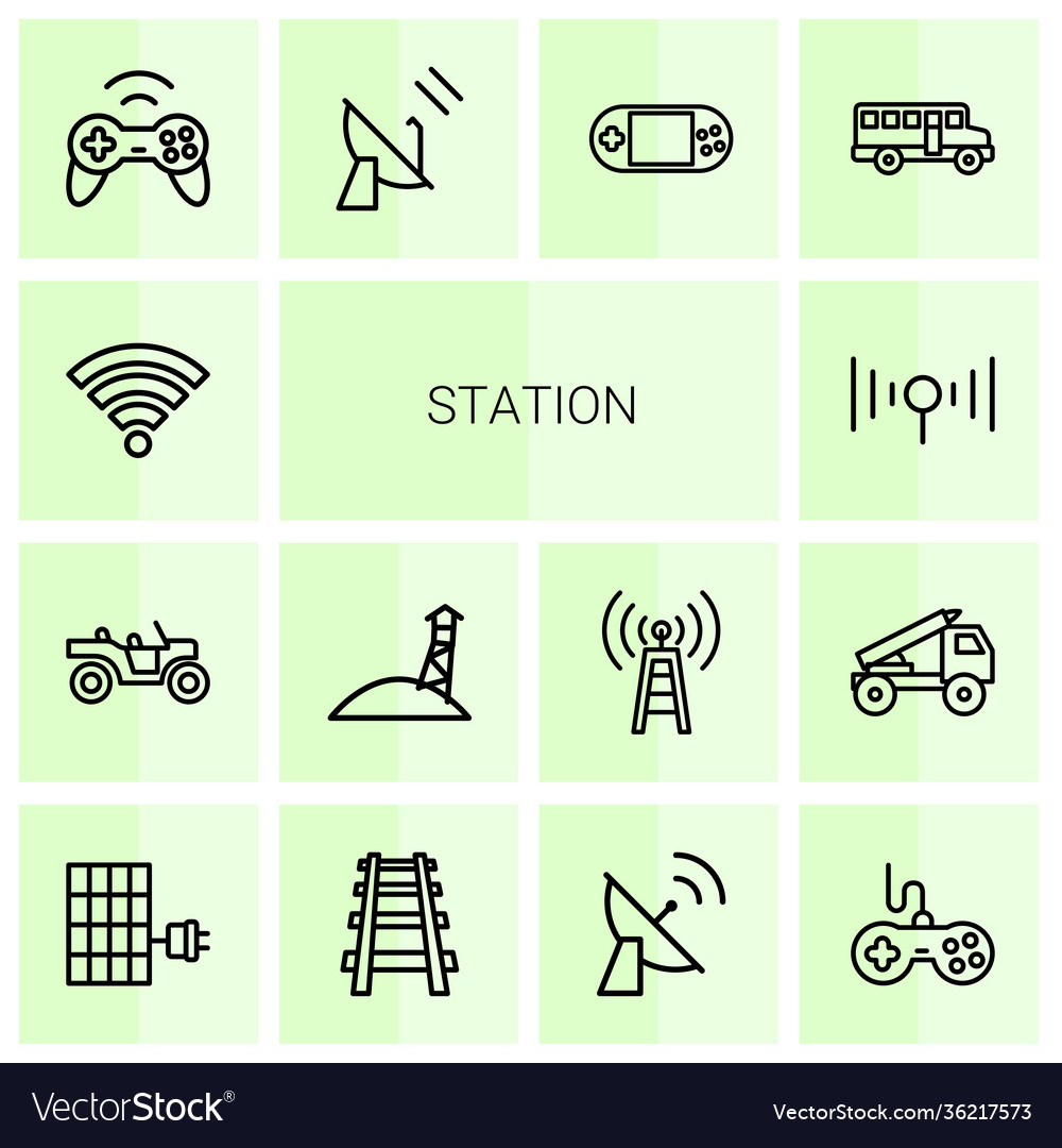 14 station icons