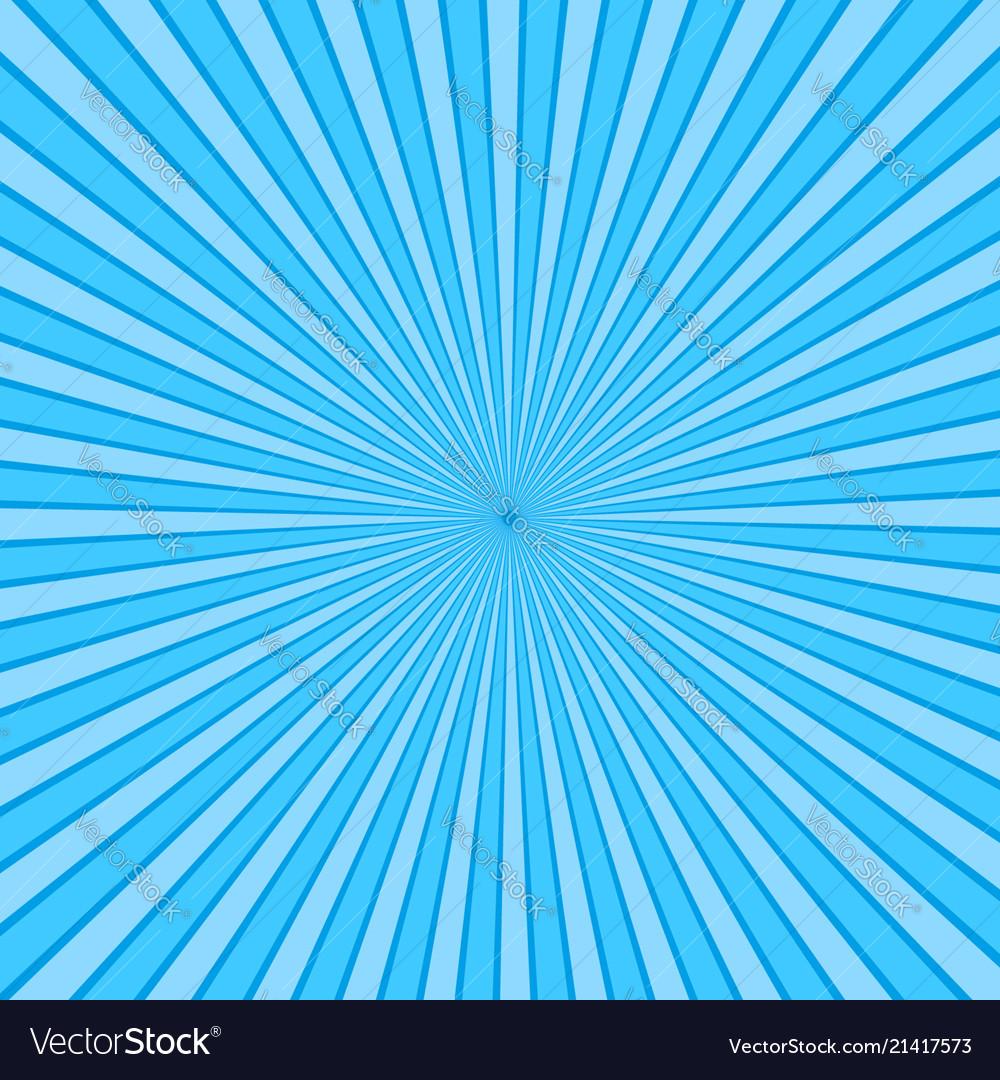 Blue rays pop art background retro comic style