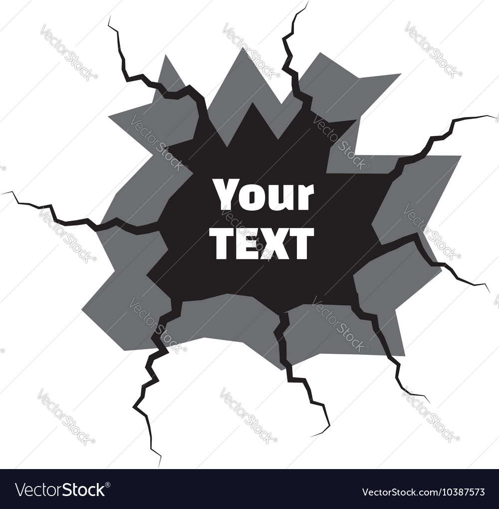 Earth Crack vector image