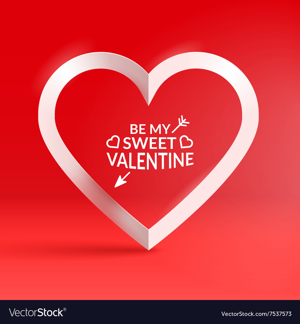 Heart shaped frame and text Royalty Free Vector Image