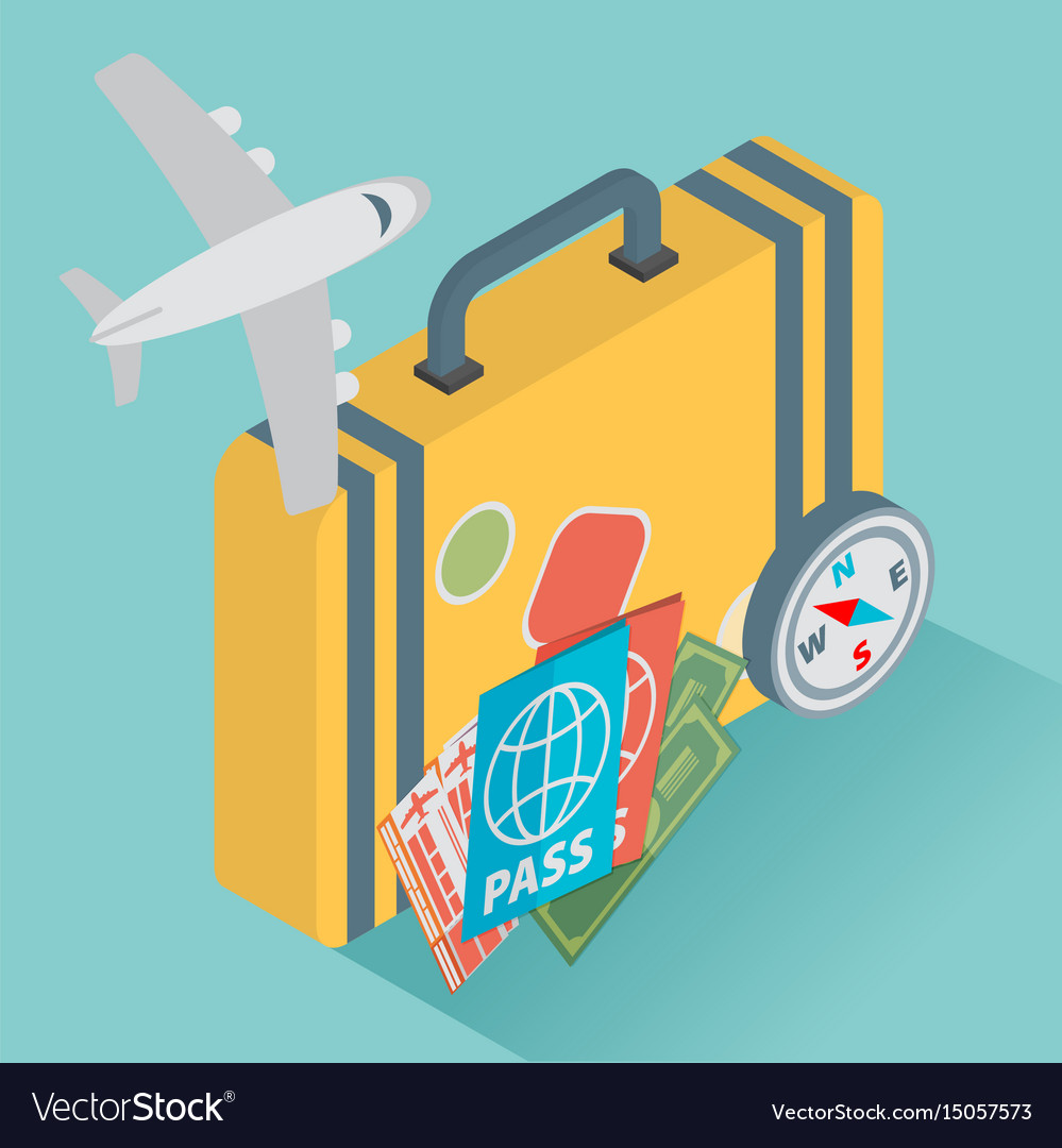 Isometric travel with airplane design concept