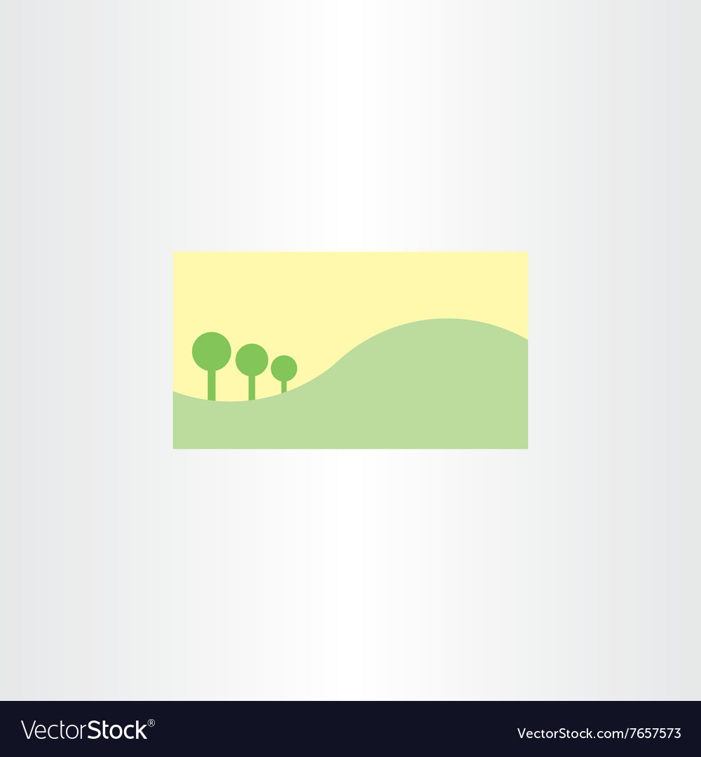 Landscape Business Card Template Background Vector Image