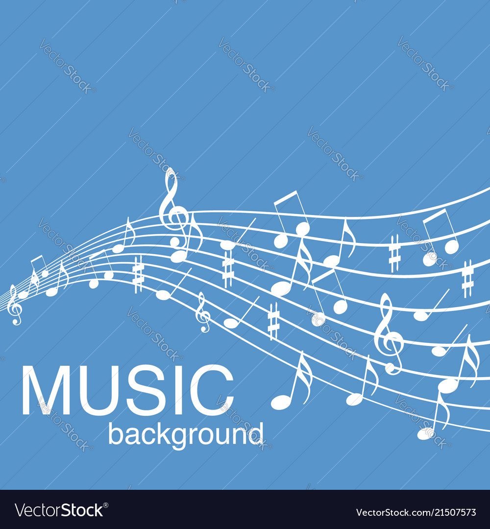 Musical design elements from music staff with